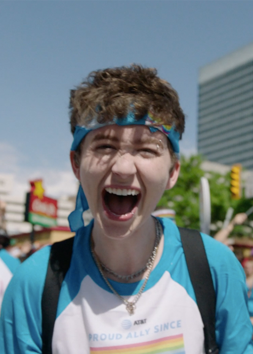 Miles McKenna for AT&T Turn Up The Love's Young Heroes Series