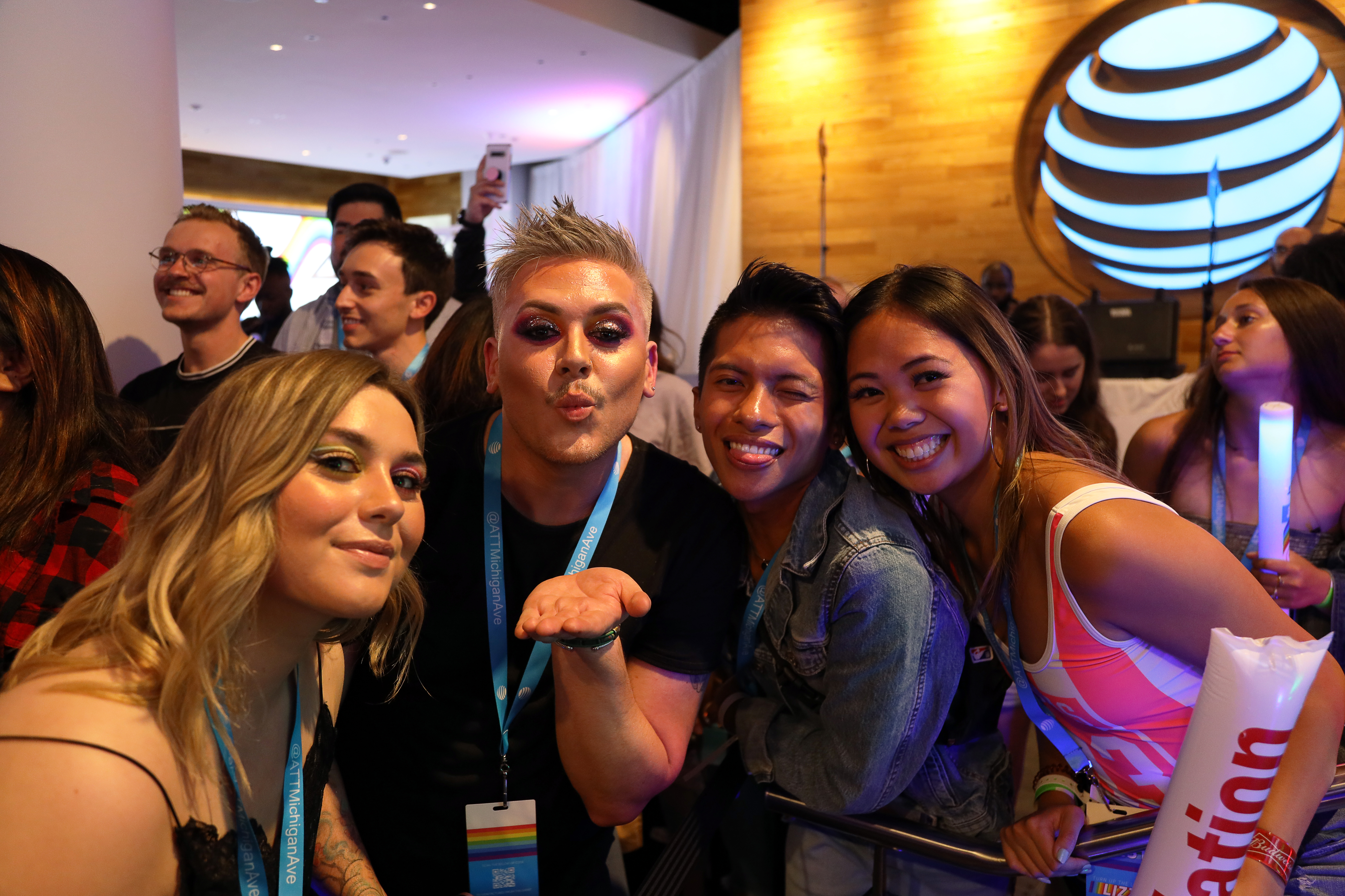 Fans at Lizzo event at AT&T Michigan Ave Chicago store
