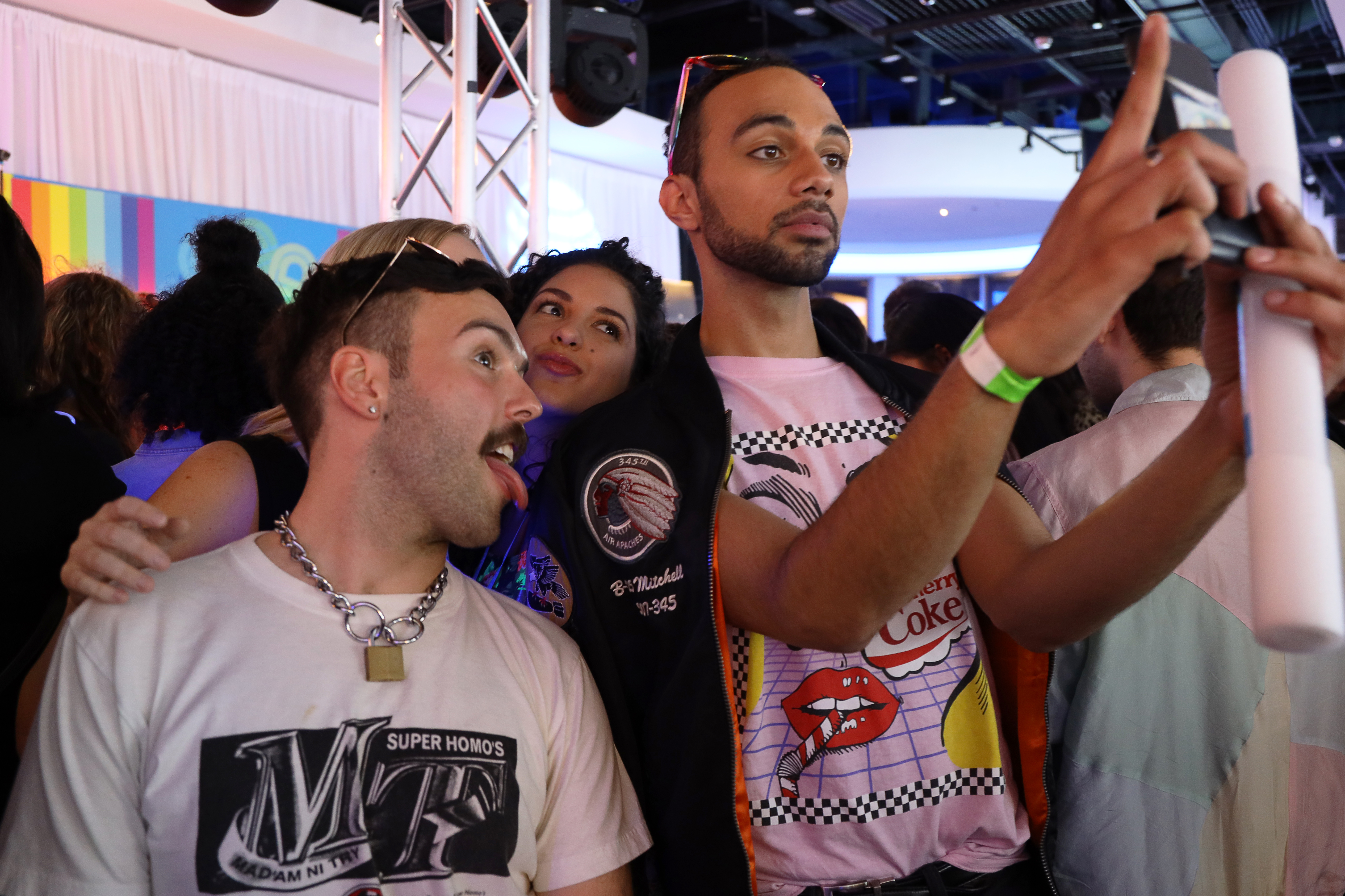 Fans Taking Selfie at Lizzo Event