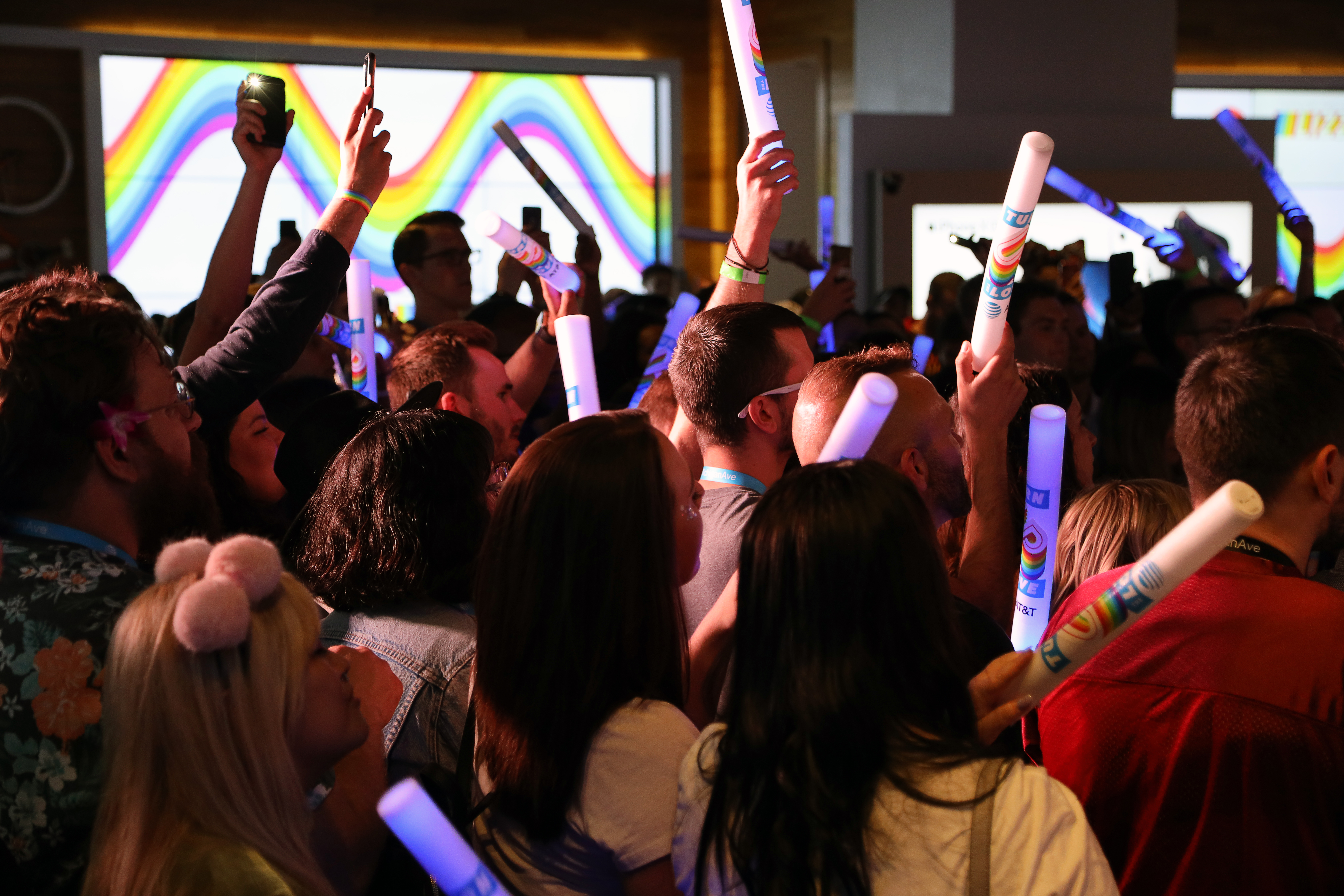 Fans at TurnUpTheLove event