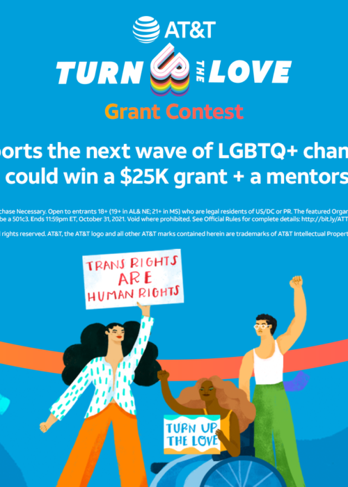 AT&T Turn Up the Love LGBTQ+ Grant Contest