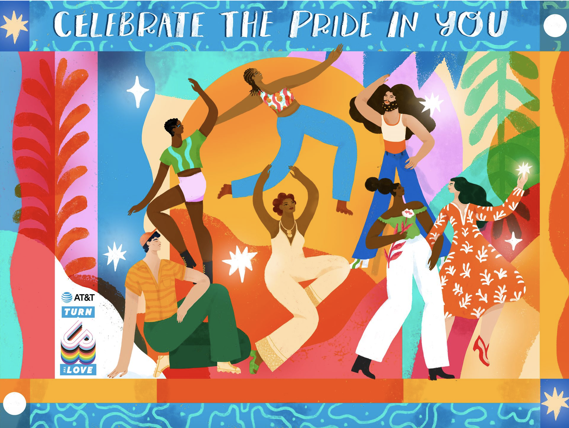 AT&T and Loveis Wise celebrate the pride in you.