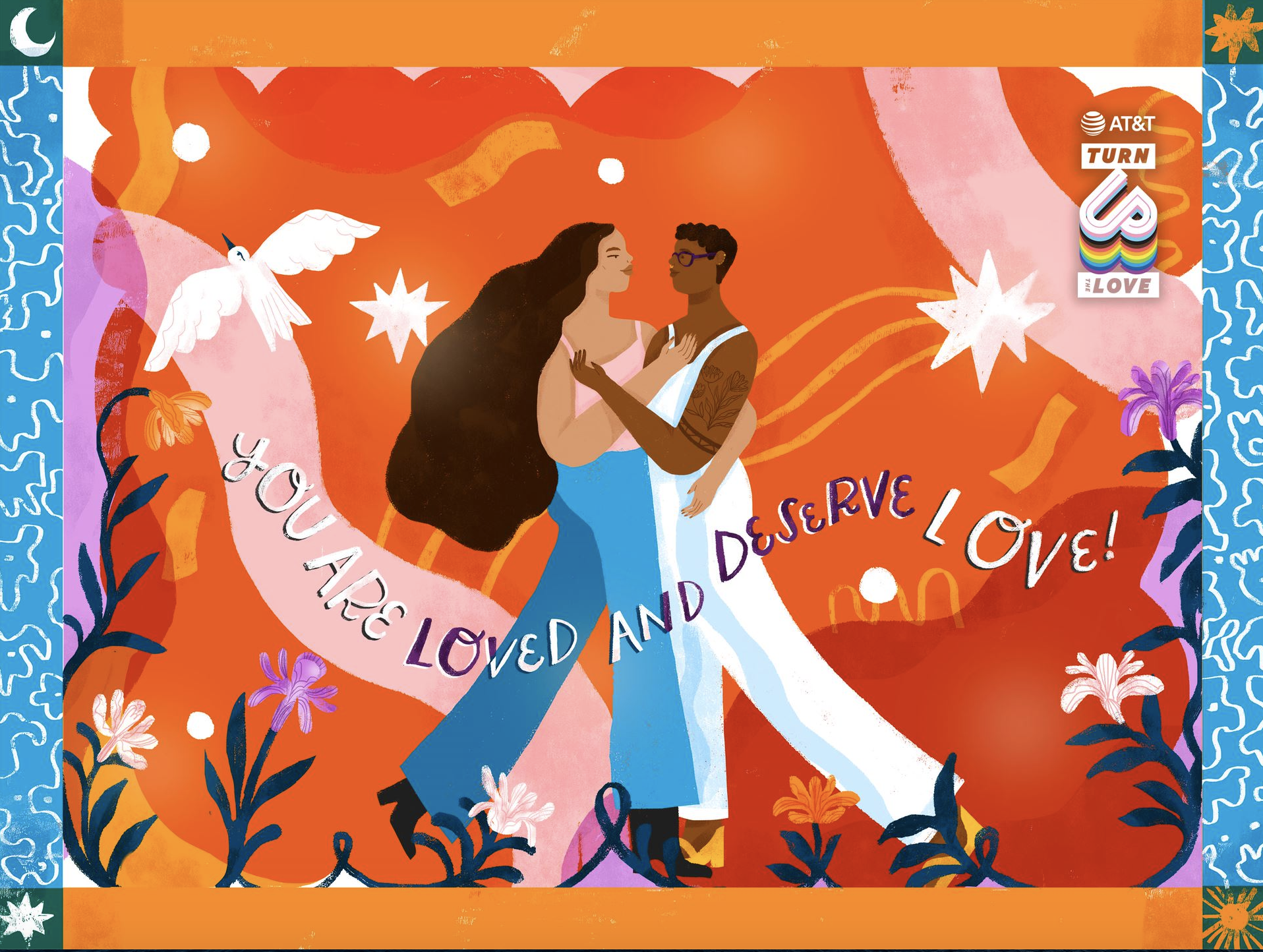 AT&T and Loveis Wise share the message, you are loved and deserve love.